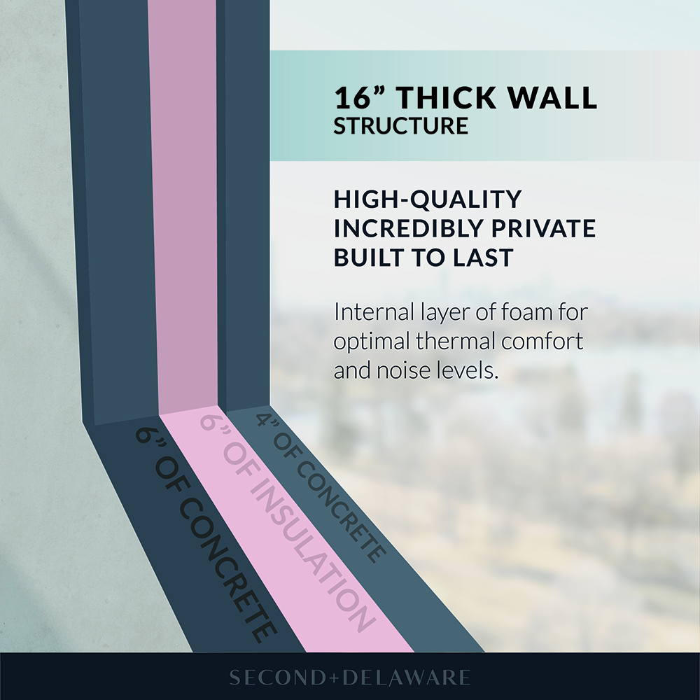 16-Inch Thick Wall Structure